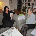Interview hjemme i stuen