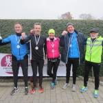 Stort tillykke til Christian Riis, Hans Andersen, Katrine Fischer, Palle Rosendal og Ove Westerlin, som alle løb deres første marathon