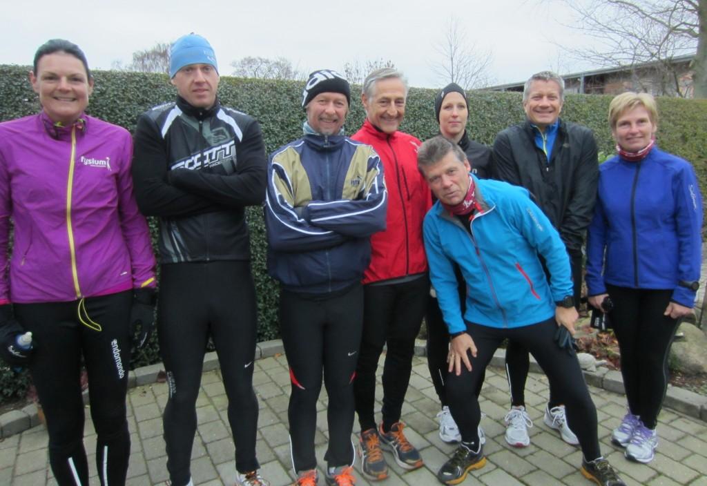 En flok gale løbere :-) Annette Fredskov, Rene Hjorth Olsen, Tony Gren, Henning Baginski, Ulrik Bruun, Christina Lagersted, Per Ejdorf, Lene Bruun