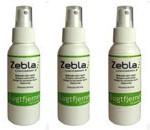 Som navnet siger fjerner Zebla Lugtfjerner dårlig lugt. Jeg bruger blandt andet sprayen til mine løbesko og Viktors fodboldstøvler.