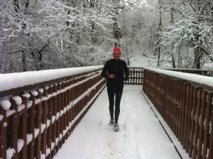 Marathon med et smil i sne :-)