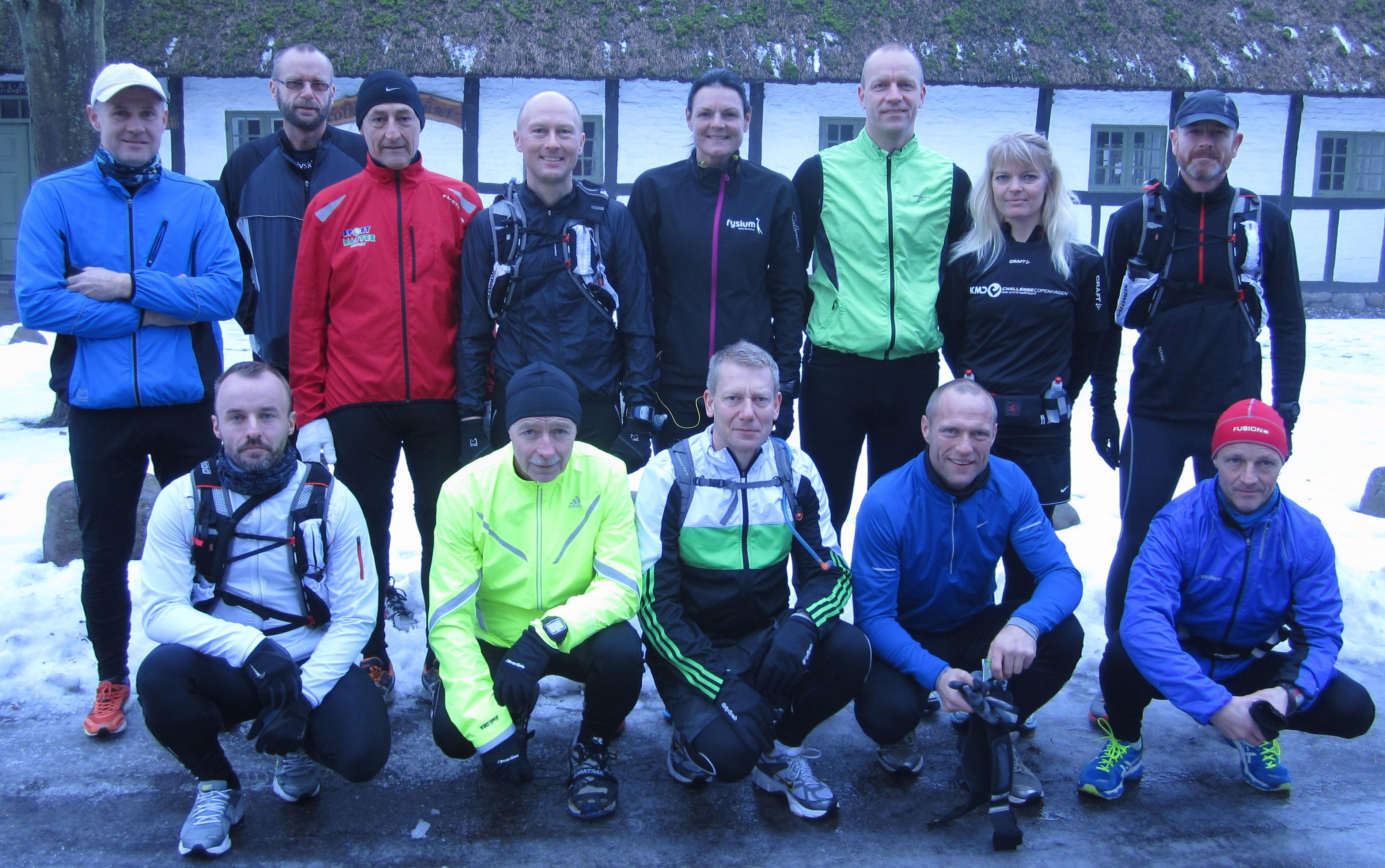 Klar til marathon på en fin rute, i godt løbevejr og godt selskab :-)