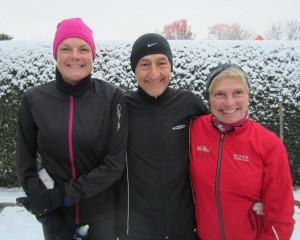 Marathon i sneen. Annette Fredskov, Henning Baginski, Lene Bruun