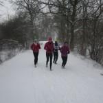 Det var hårdt at løbe i løs sne