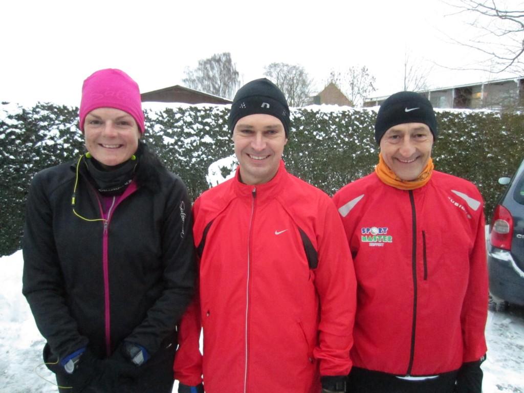 Klar til start, Fredskov Marathon, Løb nr. 150 - 366/365. Annette Fredskov, Anders Lorentzen, Henning Baginski