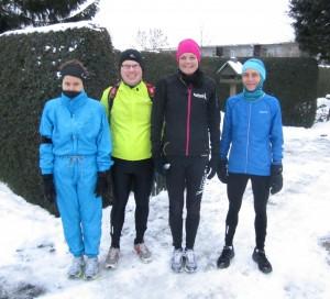 Fire friske til start den 12.12.12. Malene Ravn, Mirco Fischer, Annette Fredskov, Elisabeth Vildhøj