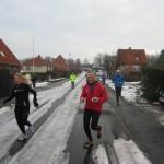 Forrest Rikke Skuldbøl og Henning Baginski, ca. 5 km ude på ruten