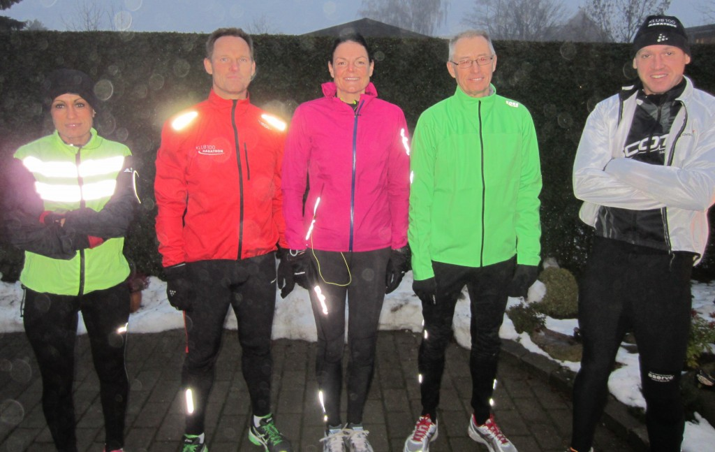 Klar til at afprøve ny rute. Bouchra Lundgren Eriksen, Peter Møllebro, Annette Fredskov, Jörgen Nilsson, Rene Hjorth Olsen